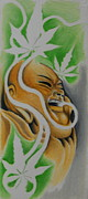 Budha Drawings Posters - Tokin Budha Poster by Photos by Staci Art by Douglas