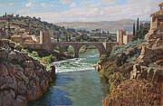 Toledo. San-martin Bridge Print by Korobkin Anatoly
