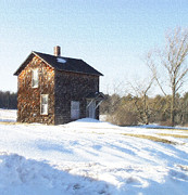Winter Digital Photo Scene Posters - Toll House Poster by Andrew Govan Dantzler