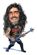 Art  Prints - Tom Araya Print by Art
