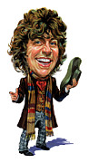 Television Paintings - Tom Baker as The Doctor by Art