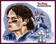 Chris  DelVecchio - Tom Brady Blue