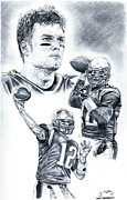 Pro Football Prints - Tom Brady Print by Jonathan Tooley