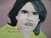 Tom Boy Framed Prints - Tom Cruise 01 Framed Print by Fladelita Messerli-