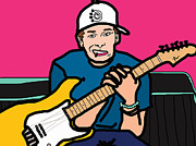 Punk Bass Prints - Tom Delonge Print by Jera Sky