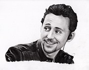 Thor Drawings Metal Prints - Tom Hiddleston 2 Metal Print by Rosalinda Markle