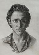 Avengers Drawing Drawings - Tom Hiddleston by Christine Jepsen