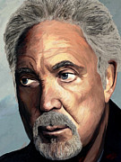 Rock Star Portraits Digital Art - Tom Jones by James Shepherd