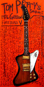 1976 Paintings - Tom Pettys Gibson Firebird by Karl Haglund