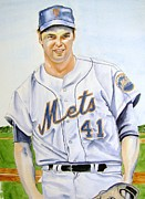 Tom Seaver Framed Prints - Tom Seaver Framed Print by Brian Degnon