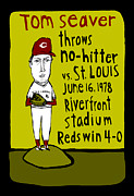 Tom Seaver Cincinnati Reds Print by Jay Perkins