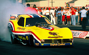 Howard Koby Posters - Tom the Mongoose Mc Ewen Corvette Funny Car Poster by Howard Koby