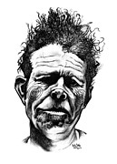 Kelly Drawings Prints - Tom Waits Print by Kelly Jade King