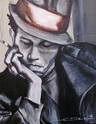 Celebrity Painting Prints - Tom Waits one Print by Eric Dee