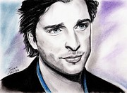 Portrait Drawings - Tom Welling by Joane Severin