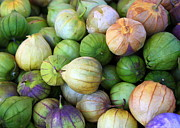 Fresh And Healthy Prints - Tomatillos Print by Carol Groenen