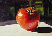Keith Painting Originals - Tomato by Keith Johnson