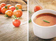 Soup Framed Prints - Tomato soup collage Framed Print by Mythja  Photography