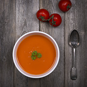 Soup Photo Posters - Tomato soup vintage Poster by Jane Rix