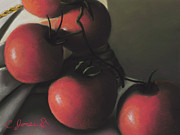 Rope Pastels Framed Prints - Tomatoes #2 Framed Print by Charles T Jones