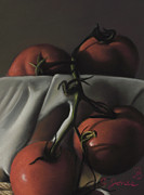 Tomatoes Pastels Prints - Tomatoes #3 Print by Charles T Jones