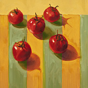 Vegetables Paintings - Tomatoes by Cathy Locke