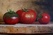Italian Meal Painting Prints - Tomatoes Print by Jan  Brieger-Scranton