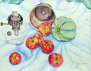 Tomato Drawings Framed Prints - Tomatoes Framed Print by Linda Rauch