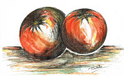 Tomatoes Mixed Media Prints - Tomatoes Print by Teresa White