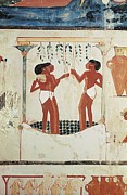 Egyptian Art Prints - Tomb Of Nakht. Egypt. Dayr Al-bahri Print by Everett