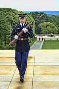 World Changing Prints - Tomb of the Unkown Soldier Honor Guard Print by Allen Beatty