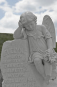 Graveyards Posters - Tombstone Angel for an Angel Poster by Christine Till
