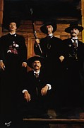 Kurt Russell Posters - Tombstone -This is a painting Not a Photo Poster by Peter Nowell