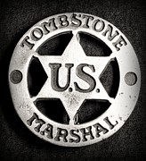 Police Metal Prints - Tombstone - US Marshal - Law Enforcement - Badge Metal Print by Paul Ward