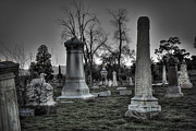 Manipulated Framed Prints - Tombstones and Tree Skeletons Framed Print by Juli Scalzi