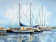 Tranquility Painting Originals - Tomis Harbor by Filip Mihail