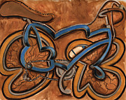 Bicycling Paintings - Tommervik Blue Ten Speed Bicycle by Tommervik