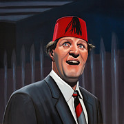 Television Paintings - Tommy Cooper  by Paul  Meijering
