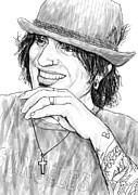Tommy Posters - Tommy lee art drawing sketch portrait Poster by Kim Wang
