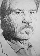 Tommy Lee Jones Drawings Acrylic Prints - Tommy Lee Jones Acrylic Print by Conor O Kane