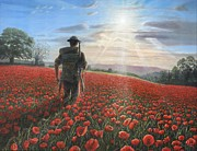 Poppies Art Paintings - Tommy by Richard Harpum