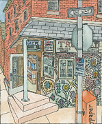 Philadelphia Paintings - Toms Trust Deli by Cee Heard