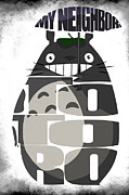 Icon Digital Art Prints - Tonari no Totoro - My Neighbor Totoro Print by Ayse Toyran