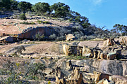 Rock  Pyrography - Tone Rocks at Enchanted Rock Texas by Linda Phelps