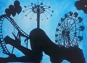 Roller Coaster Painting Posters - Tonights Piece Poster by Robert Kemmerer