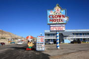 Happy Posters Photo Posters - Tonopah Nevada - Clown Motel Poster by Frank Romeo
