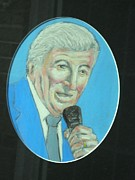 Singing Pastels Originals - Tony Bennett by Jerry Corbett