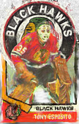 Hockey Mixed Media - Tony Esposito by Brian Verhoog