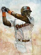 Baseball Art Mixed Media Posters - Tony Gwynn Poster by Michael  Pattison