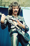 Concerts Prints - Tony Iommi of Black Sabbath during 1980 Tour  Print by Daniel Larsen